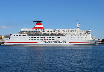 Trasmediterranea ferry booking timetables and tickets for Ticket nador