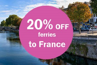 20% off ferries to France all year