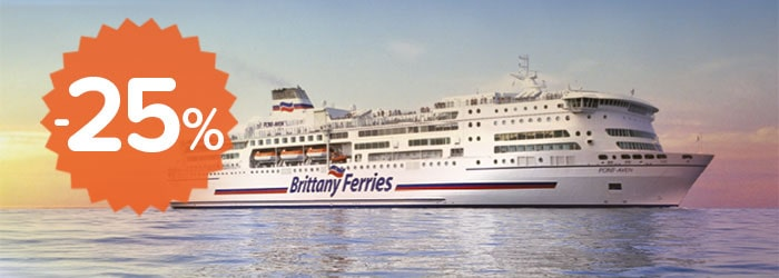 25% off Brittany Ferries Channel Sailings