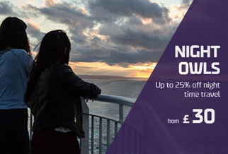 25% off Dover - France night crossings