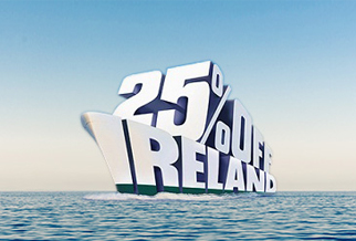 25% off ferries to Ireland all year