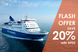 FLASH OFFER: Get 20% OFF DFDS ferries to France