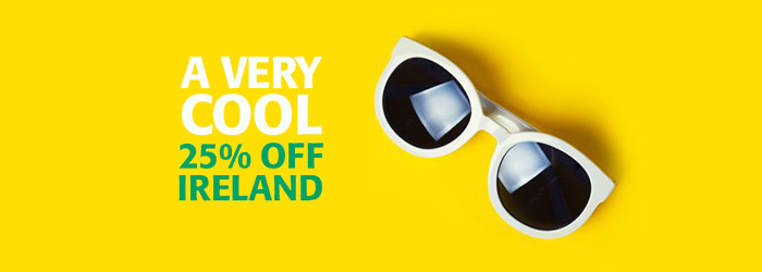 Get 25% OFF sailings to Ireland