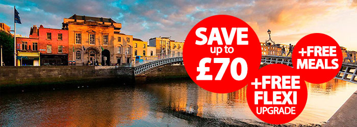 Liverpool to Dublin: Save up to £70 + Free FLEXI
