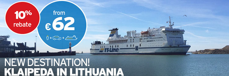 NEW ROUTE: 10% off Sweden to Lithuania with TT Line