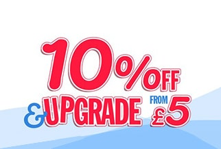 Northern Ireland: 10% OFF & upgrades from £5