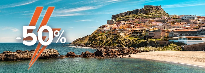 Sardinia & Sicily: 50% OFF your return with GNV